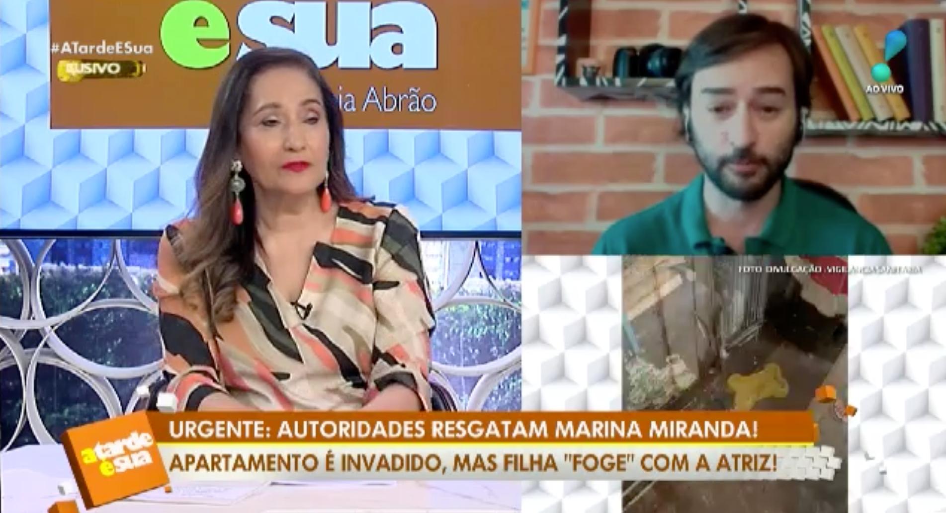 Sonia Abrão e Alessandro Lo-Bianco mostram fotos do apartamento de Marina Miranda (Foto: Reprodução)