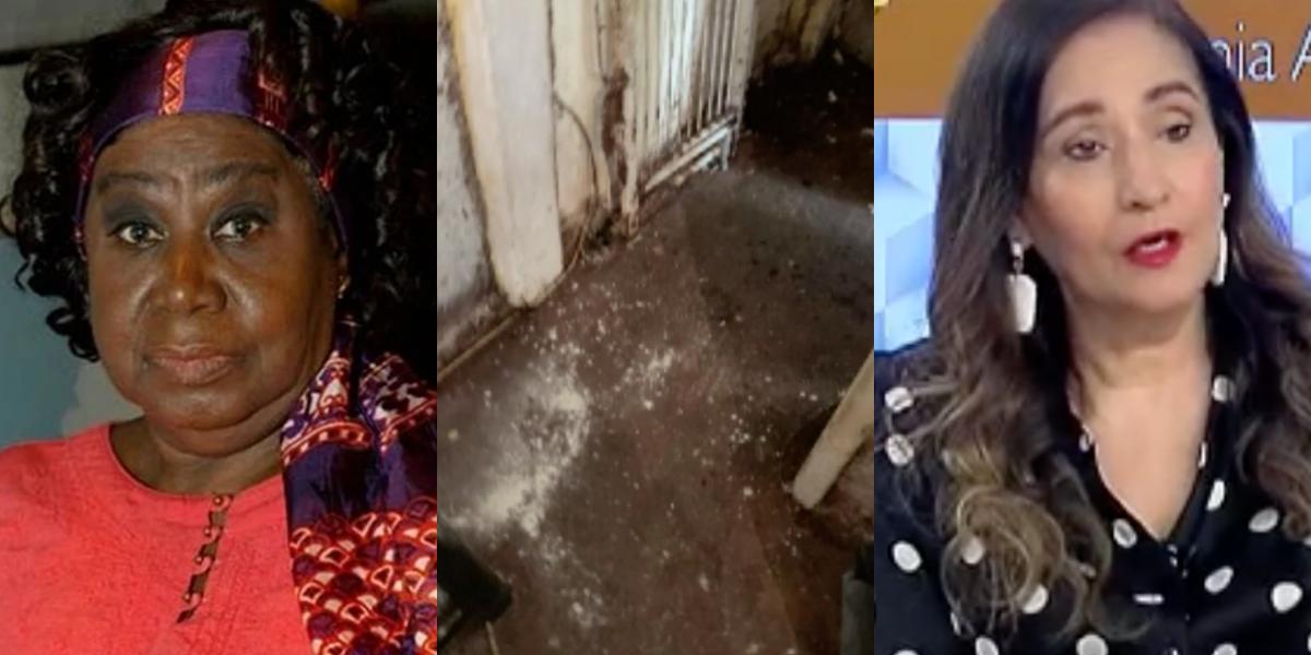 Atriz tem novas fotos chocantes do apartamento reveladas no programa de Sonia Abrão (Foto: Montagem)