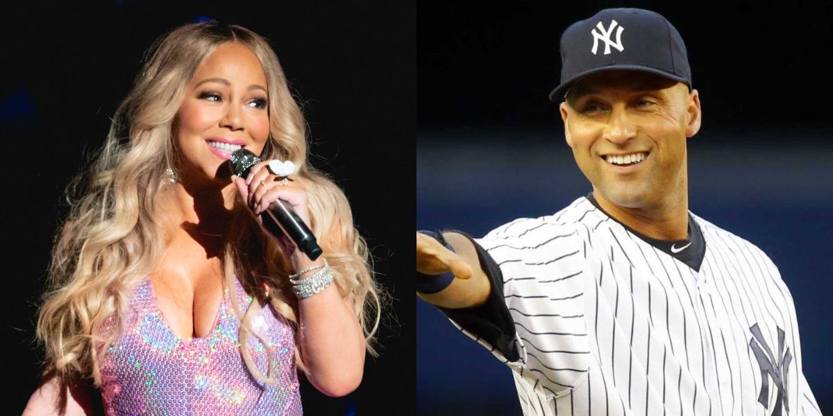 Mariah Carey e Derek Jeter (Foto: Reprodução)