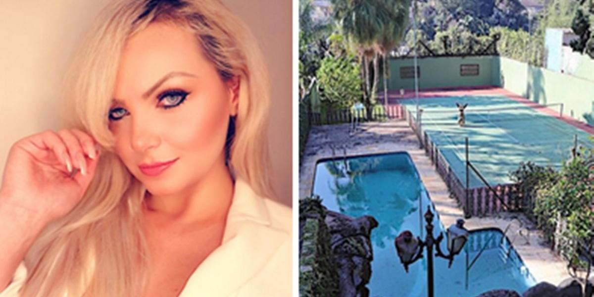 Mulher Pera exibiu sua mansão luxuosa aos fãs (Foto: Montagem/TV Foco)