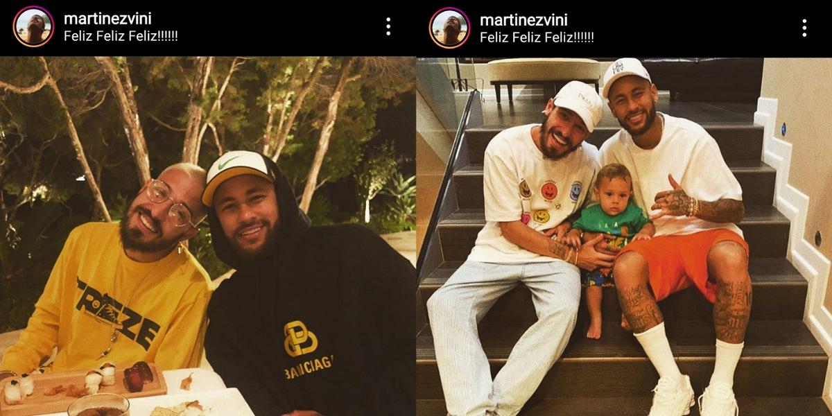 Marido de Carol Dantas se declara para Neymar em publicação (Foto: Reprodução/Instagram)