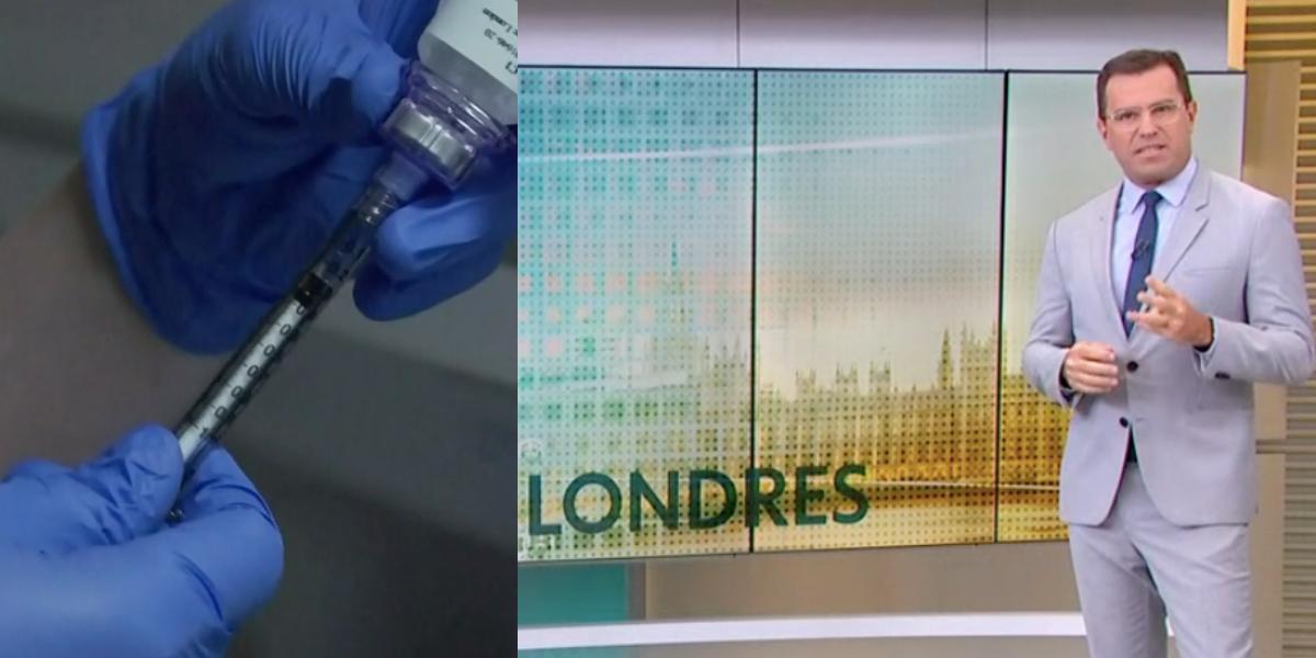 Rodrigo anuncia retomada de testes da vacina de Londres (Foto: Montagem)
