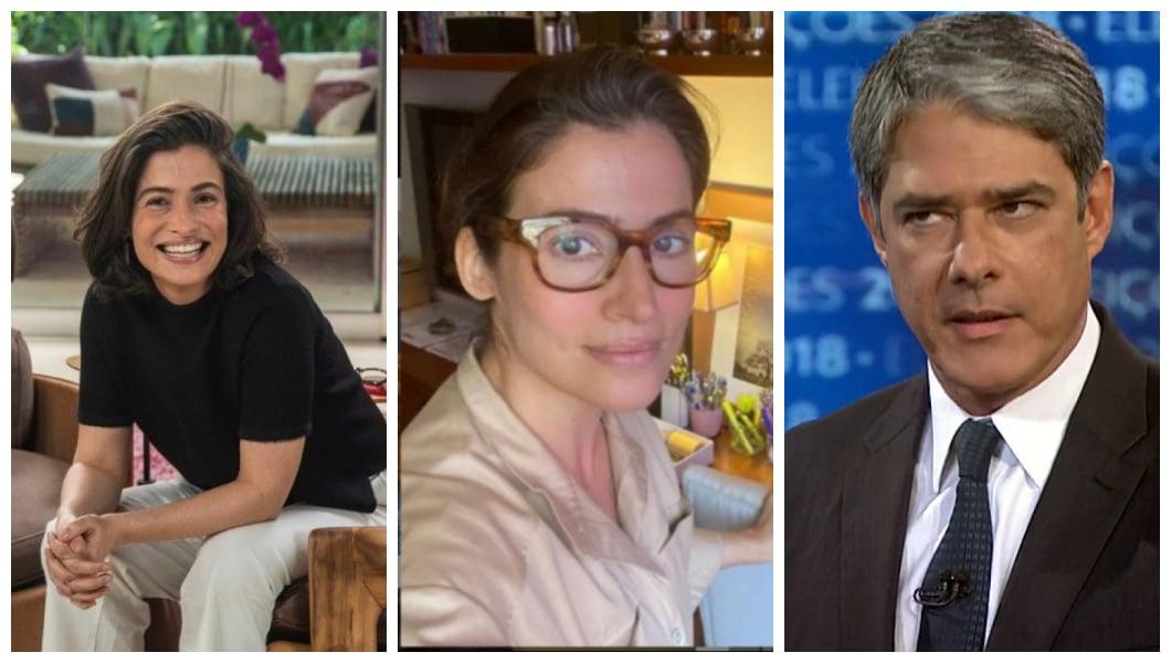 Renata Vasconcellos e William Bonner (Foto: Reprodução)
