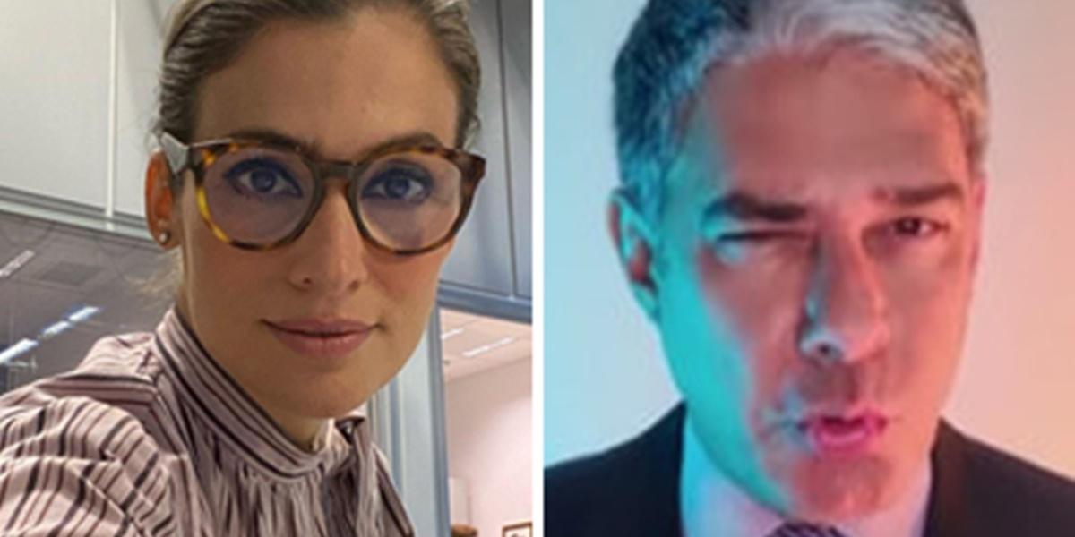 Renata Vasconcellos e William Bonner vivem intimidade de amigos nos bastidores do Jornal Nacional (Foto: Montagem/TV Foco)