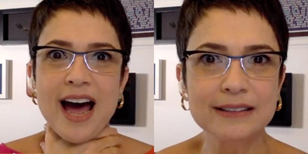 Sandra Annenberg conta sobre a sensação de dar uma notícia no plantão na Globo (Foto: Montagem)