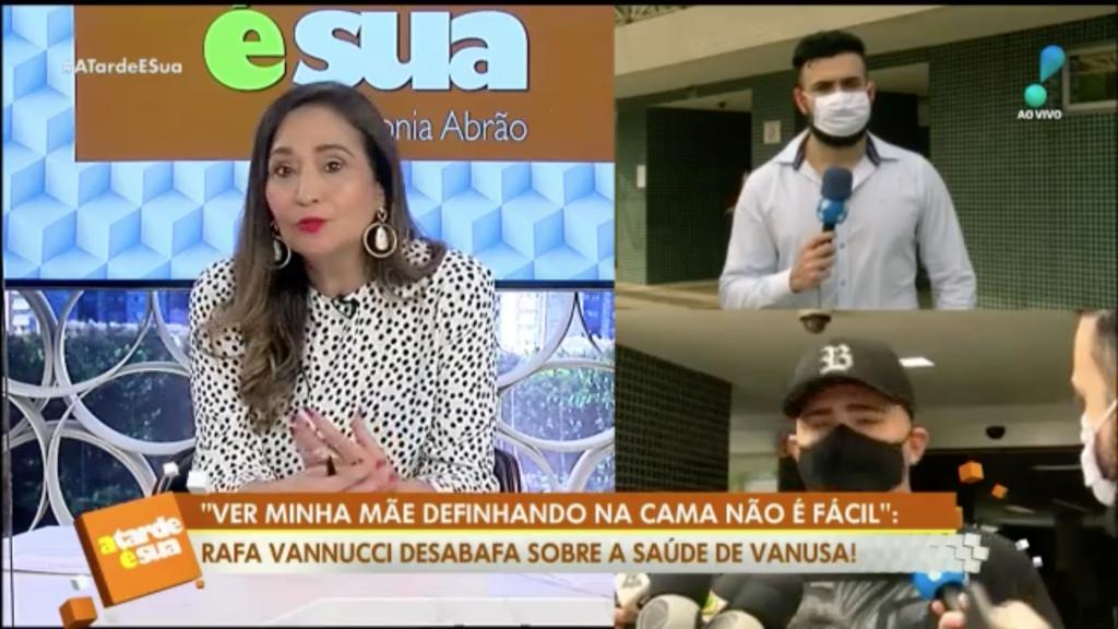 Repórter Bruno Tálamo entrevista Rafael Vanucci (Foto: Reprodução)