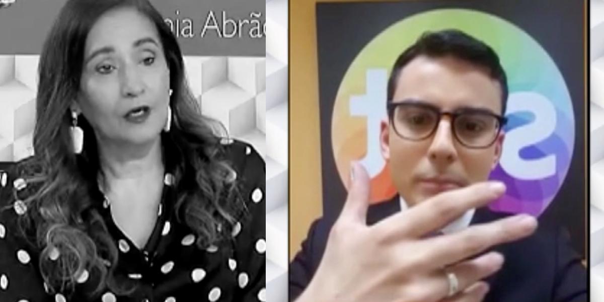 Sonia Abrão e o jornalista do SBT (Foto: Montagem)