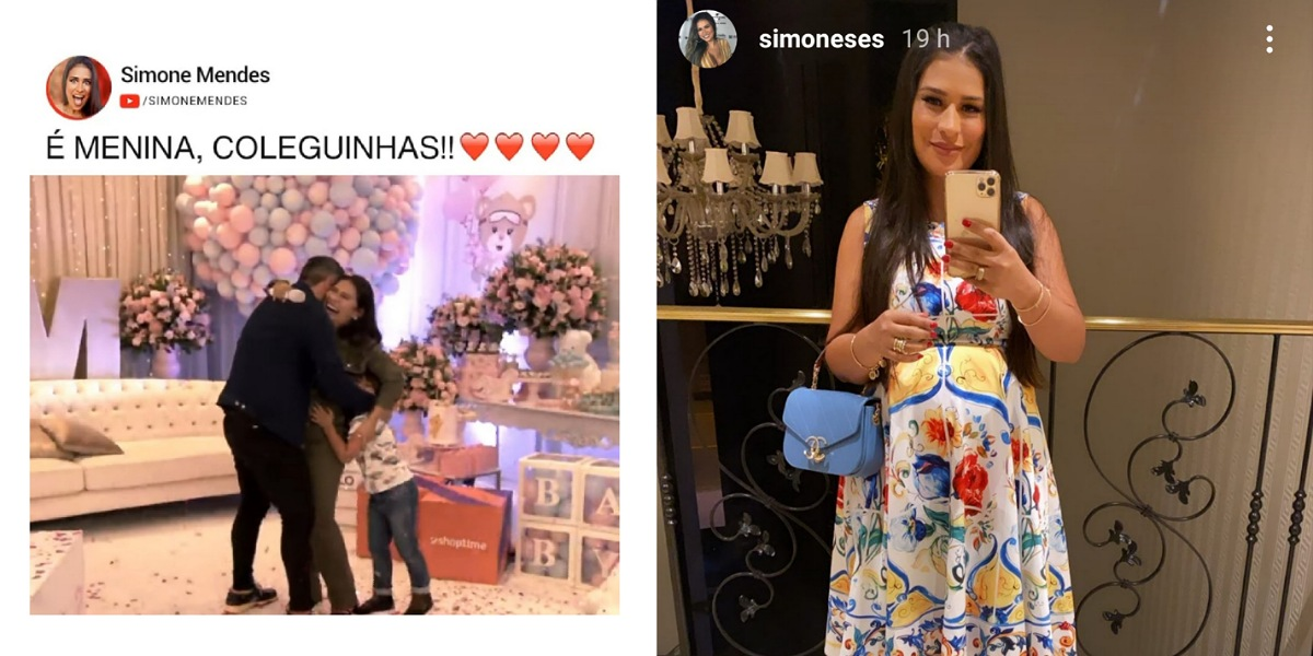 Simone compartilha look para e mostra barriguinha de grávida (Foto: Reprodução/Instagram)