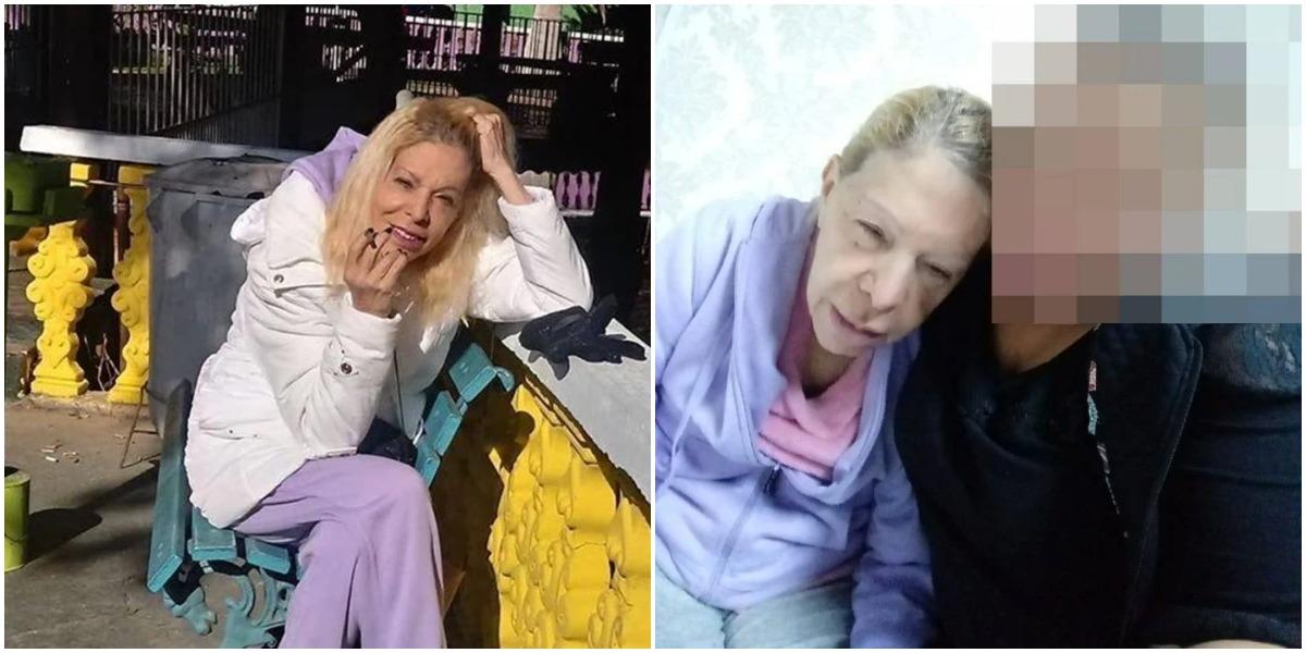 Vanusa tem fotos debilitada em clínica (Foto: Reprodução)