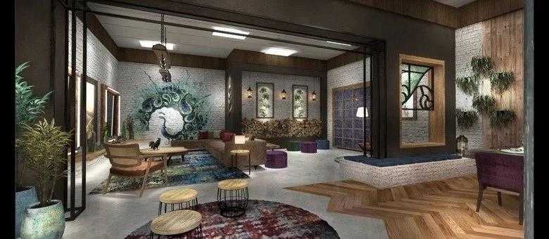 Um dos ambientes da nova mansão de 'A Fazenda 12' (Foto: reprodução/R7)
