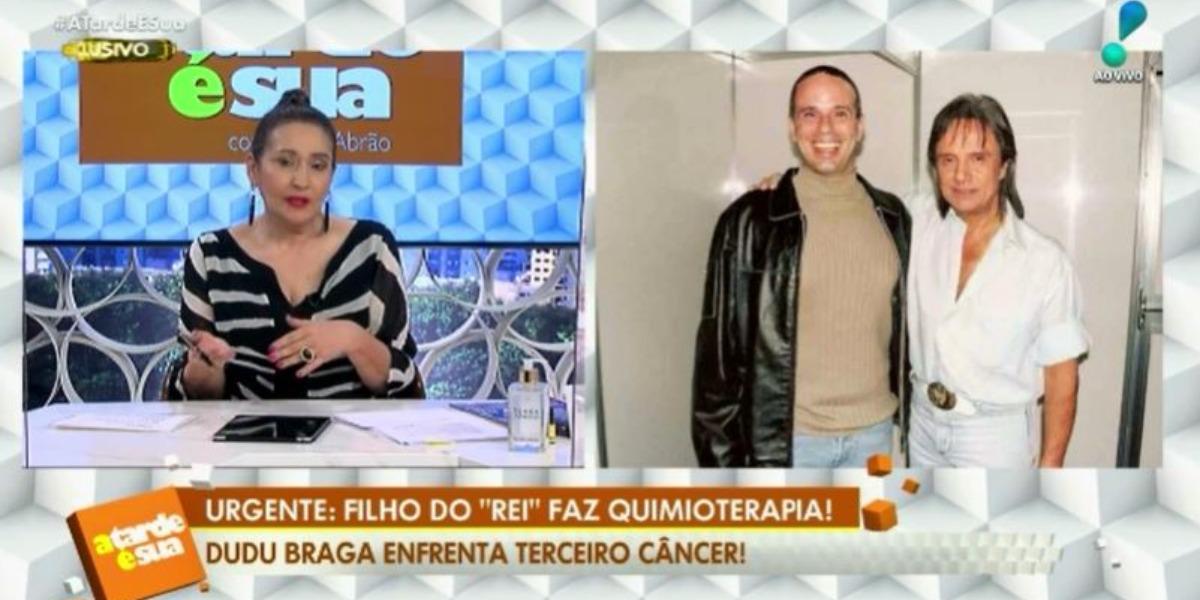 """O programa de Sonia Abrão, o """"A Tarde é Sua"""", noticiou novo câncer de Dudu Braga (Foto: Reprodução/RedeTV!)"""