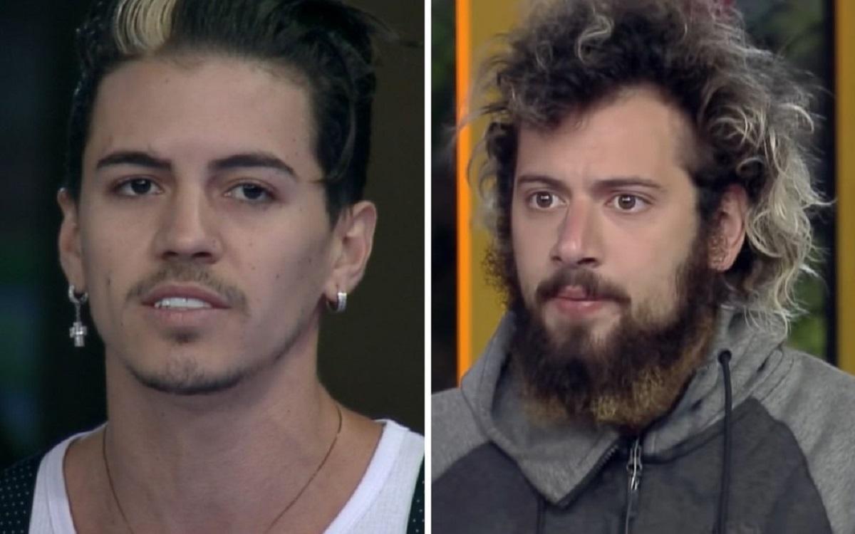 Biel e Cartolouco tiveram desentendimento no reality show da Record TV (Foto: Reprodução)