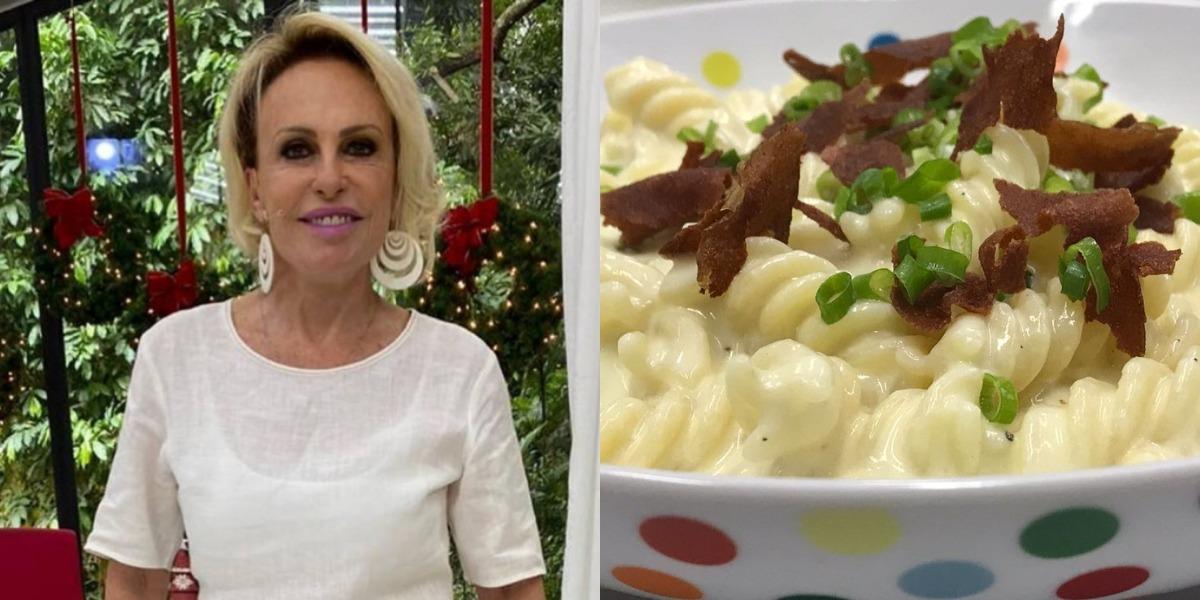 Ana Maria Braga prepara macarrão com queijo de micro-ondas no Encontro de hoje (Foto: Reprodução)