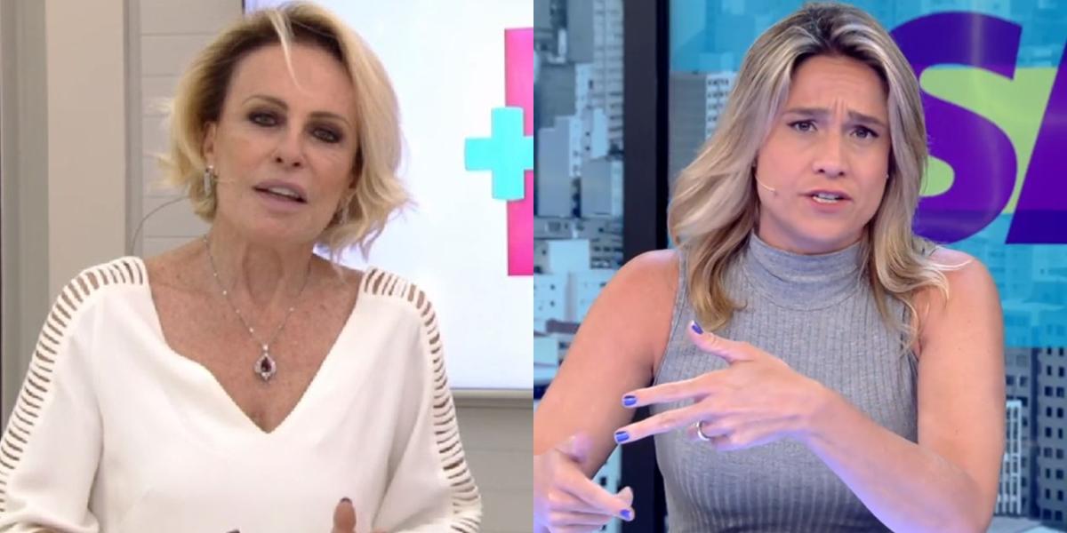 Ana Maria Braga no Mais Você e Fernanda Gentil no Se Joga; apresentadoras tem futuro indefinido (Foto: Reprodução/Globo)