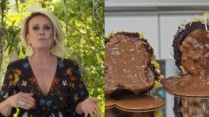 Ana Maria Braga prepara sorvete de rocambole com chocolate (Foto: Reprodução)