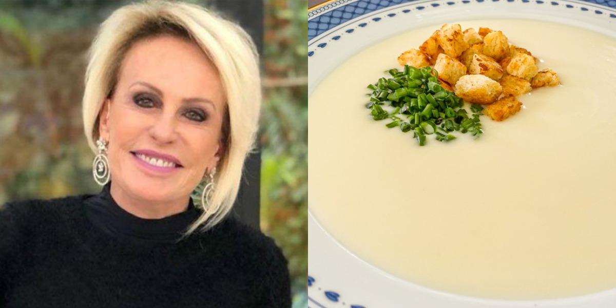 Ana Maria Braga prepara Parmentier (sopa de batata com alho-poró) no Encontro de hoje - Foto: Reprodução
