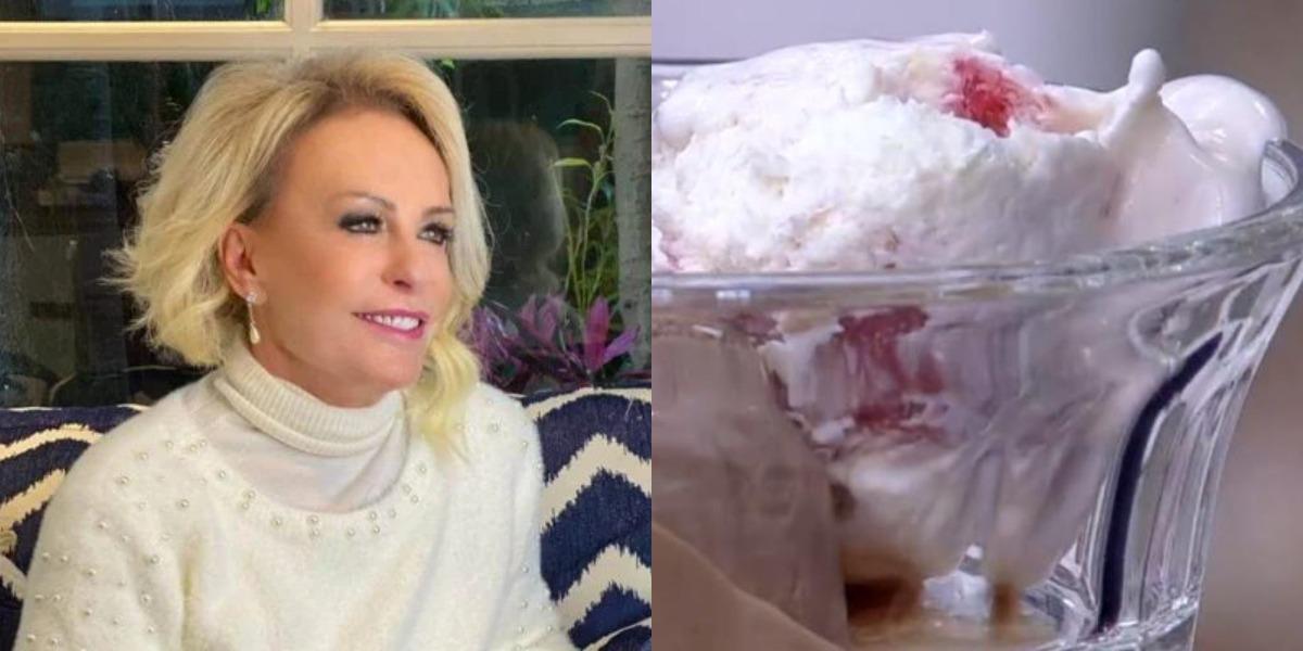 Ana Maria Braga prepara sorvete milagre no Encontro de hoje (Foto: Reprodução)
