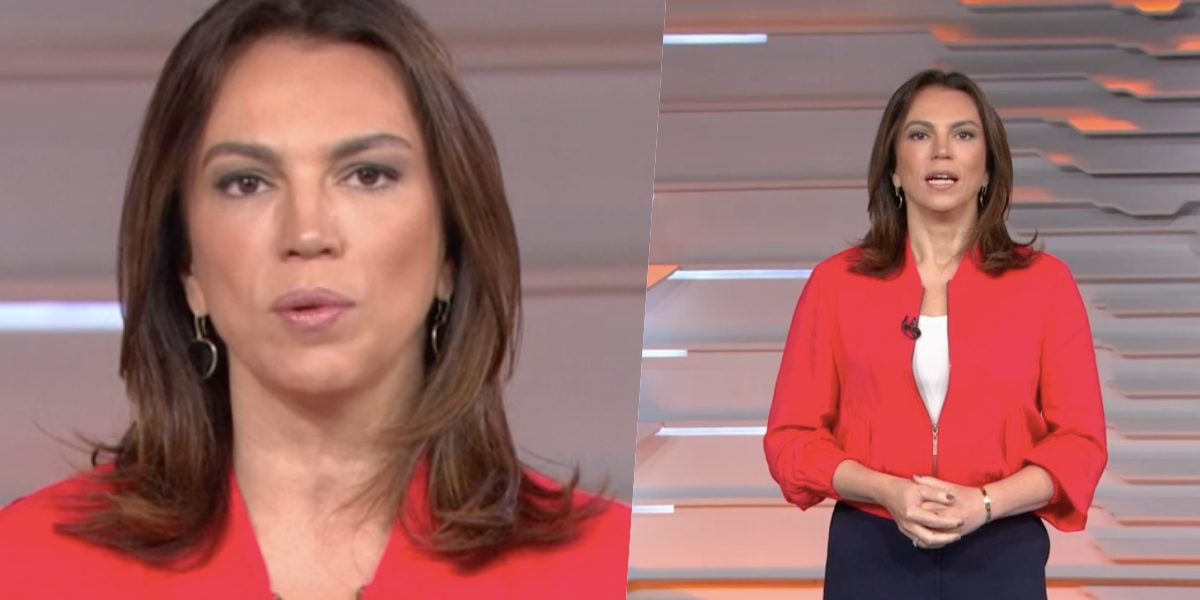 Ana Paula Araújo à frente do 'Bom Dia Brasil' (Foto: reprodução/Globo)
