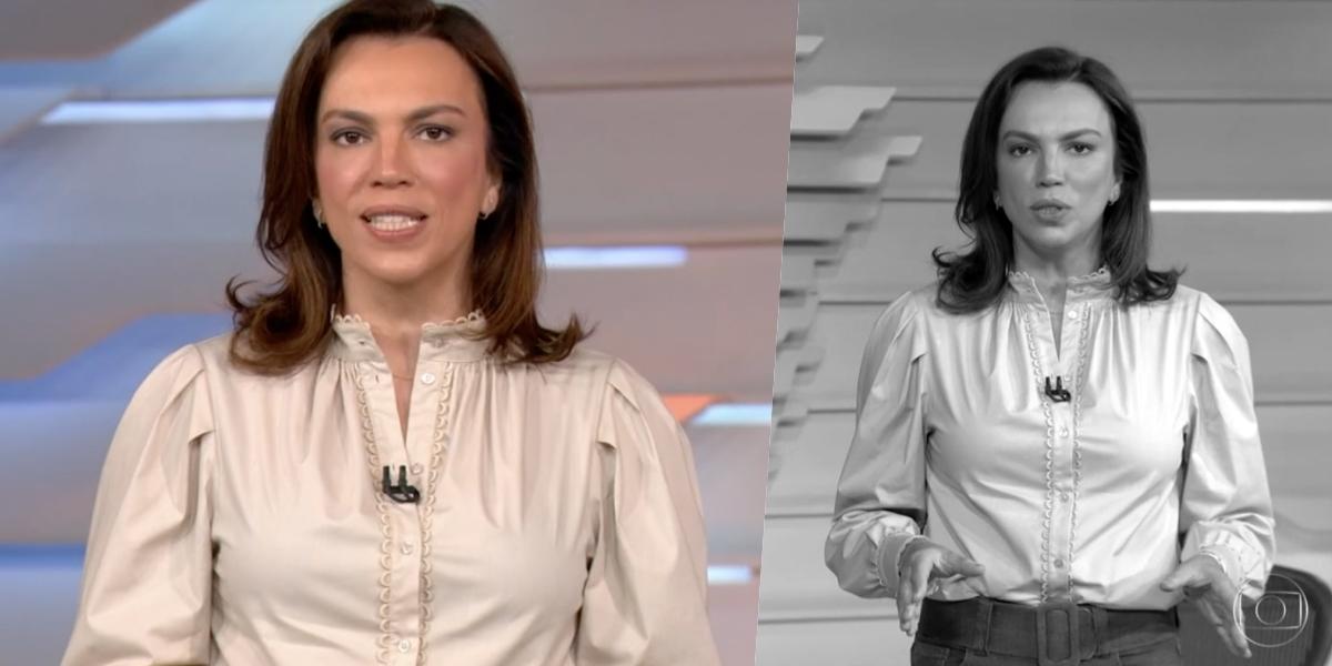 Ana Paula Araújo iniciou o 'Bom Dia Brasil' com uma bomba (Foto: reprodução/Globo)