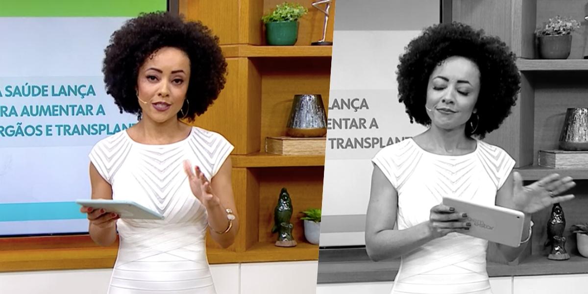 Valéria Almeida, no comando do 'É De Casa' (Foto: reprodução/Globo)