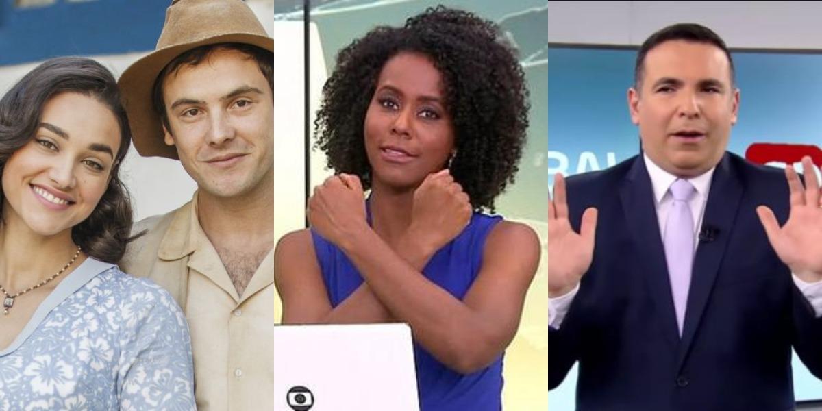 Êta Mundo Bom!, Jornal Hoje e Balanço Geral SP foram destaques de audiência (Foto: Reprodução/TV Globo/Record)