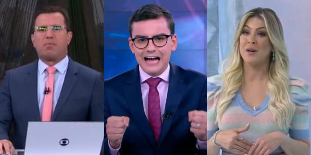 Bom Dia São Paulo, Primeiro Impacto e Jogo Aberto foram destaques de audiência (Foto: Reprodução/TV Globo/SBT/Band)