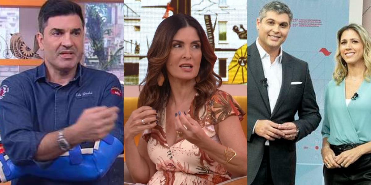 Edu Guedes e Você, Encontro Com Fátima Bernardes e Bora SP foram destaques de audiência (Foto: Reprodução/RedeTV!/TV Globo/Band)
