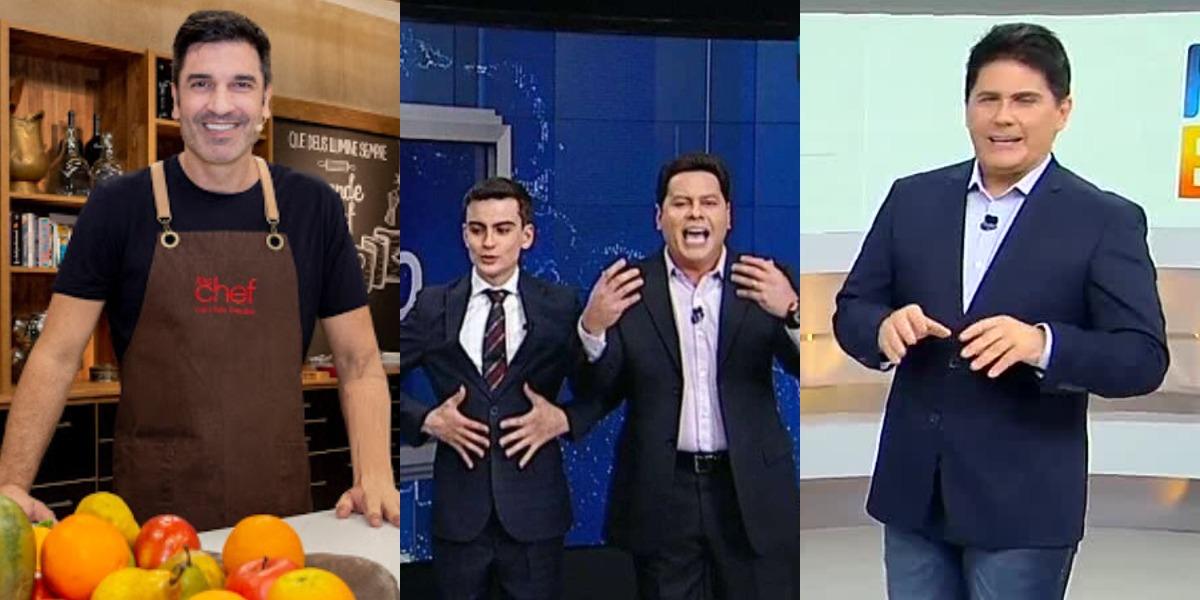 The Chef com Edu Guedes, Primeiro Impacto e Hoje em Dia foram destaques de audiência (Foto: Reprodução/RedeTV!/SBT/Record)