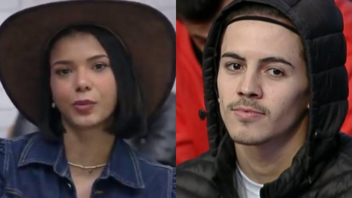 Jakelyne e Biel no reality show da Record (Foto: Reprodução/ Record) A Fazenda