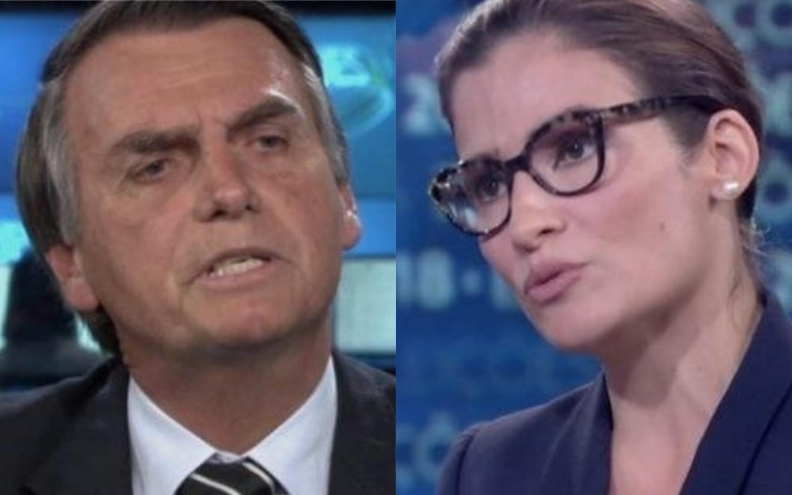 Jair Bolsonaro e Renata Vasconcellos (Foto: Divulgação)