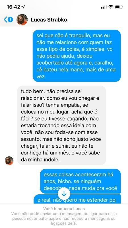 Cartolouco teve conversas com amigo divulgadas pelo UOL (Foto: Reprodução)