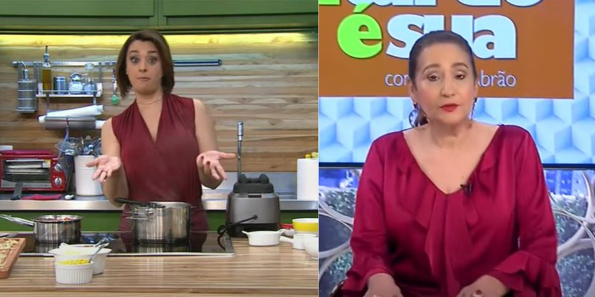 Catia Fonseca e Sonia Abrão lutam por audiência (Foto: Reprodução/Band/RedeTV!)