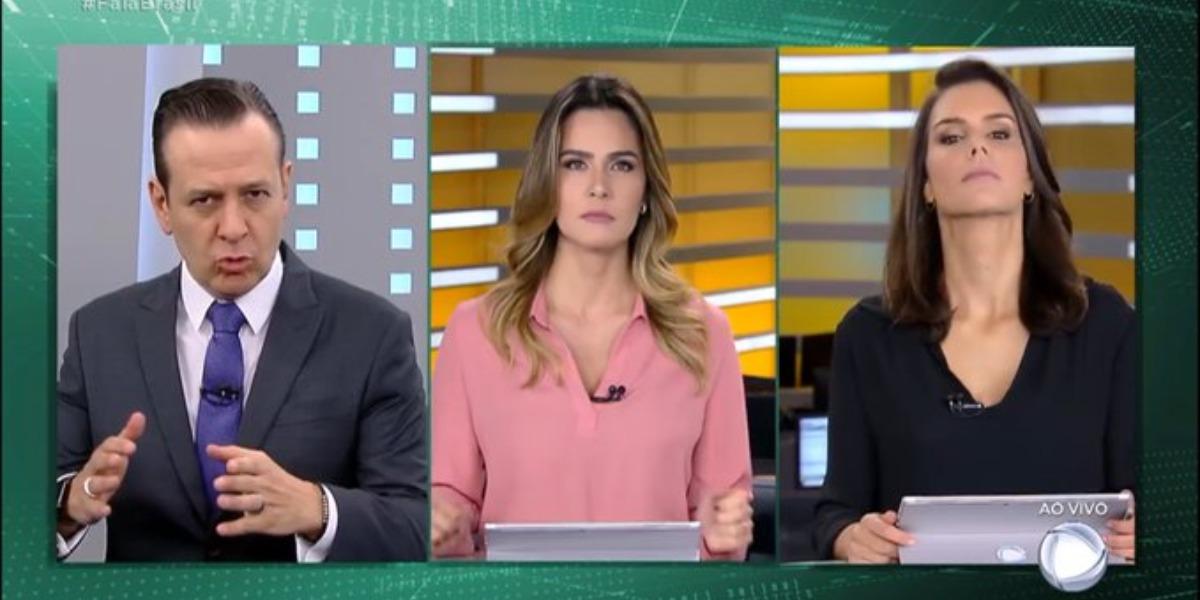 Celso Zucatelli voltou ao Fala Brasil (Foto: Reprodução/Record)