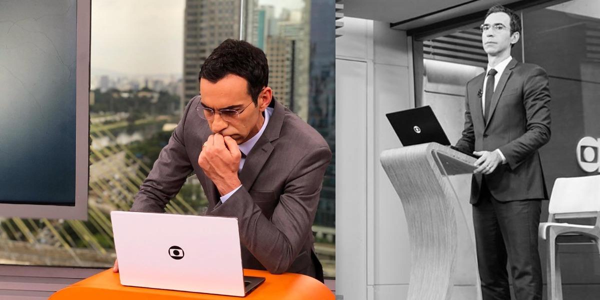 """César Tralli é âncora do """"SP1"""" da TV Globo (Foto: Reprodução/Instagram)"""