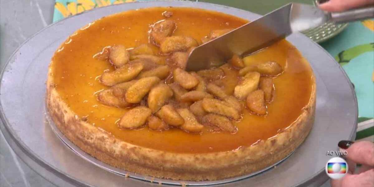 Cheesecake de bana feito por Ana Maria Braga (Foto: Reprodução)