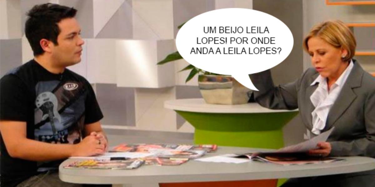 Claudete Troiano cometeu gafe com Leila Lopes (Foto: Reprodução/Gazeta)