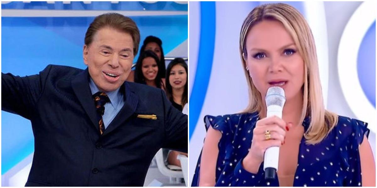 Silvio Santos é chefe de Eliana no SBT (Reprodução)