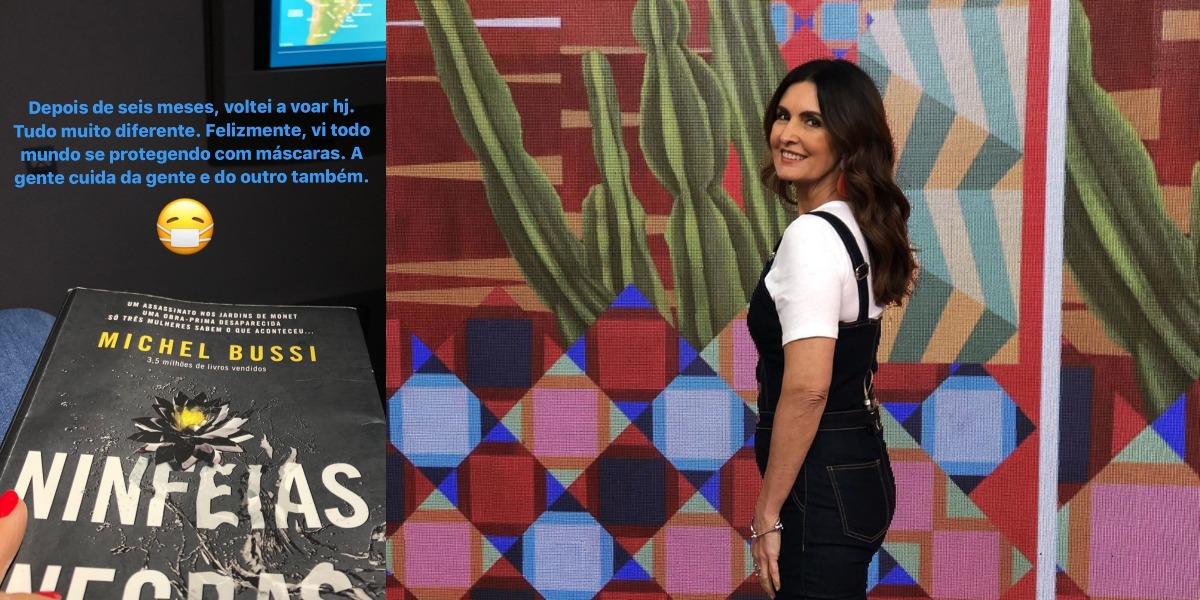 """Fátima Bernardes, apresentadora do """"Encontro"""", da TV Globo, viajou após seis meses (Foto: Reprodução/Instagram)"""