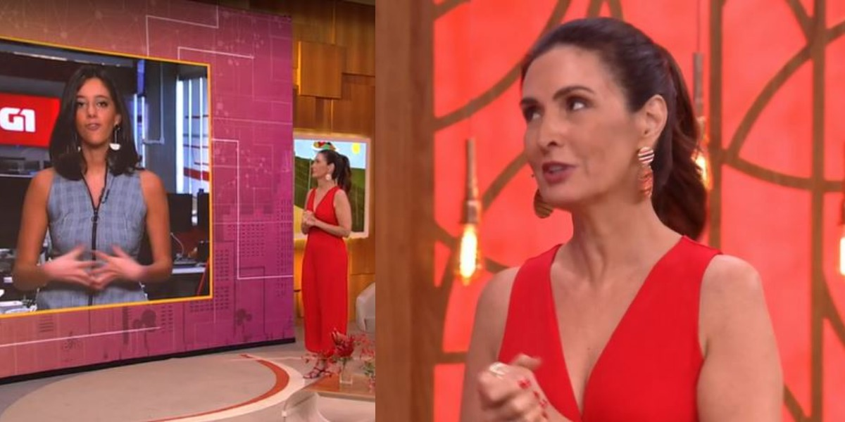 Fátima Bernardes era tia de Luiz Tenente (Foto: Reprodução/TV Globo)
