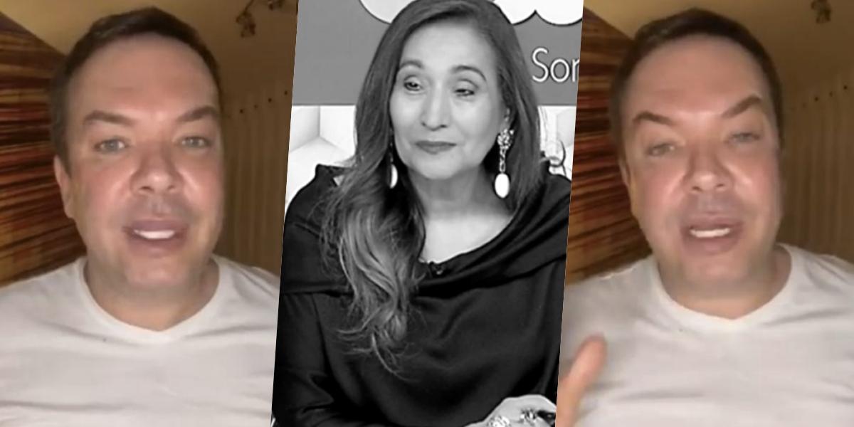 """Felipeh Campos, colunista de Sonia Abrão, levou """"bronca"""" da chefe (Foto: reprodução)"""