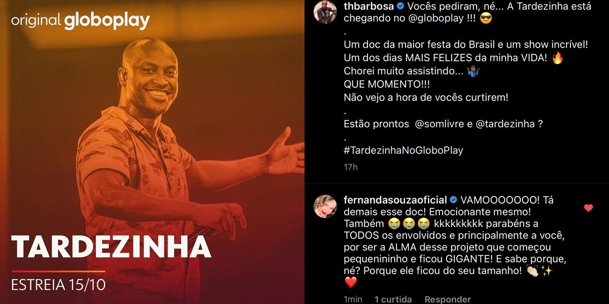 Fernanda Souza se declarou para Thiaguinho (Foto: reprodução)