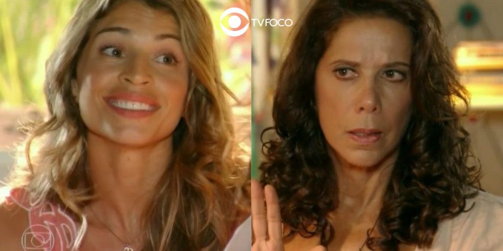 Lindaura (Angela Vieira) se impressiona com novidade da filha em Flor do Caribe