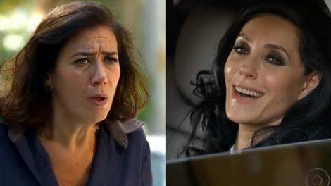 Tereza Cristina (Christiane Torloni) e Griselda (Lilia Cabral) na cena final de Fina Estampa (Foto: Reprodução/Globo)