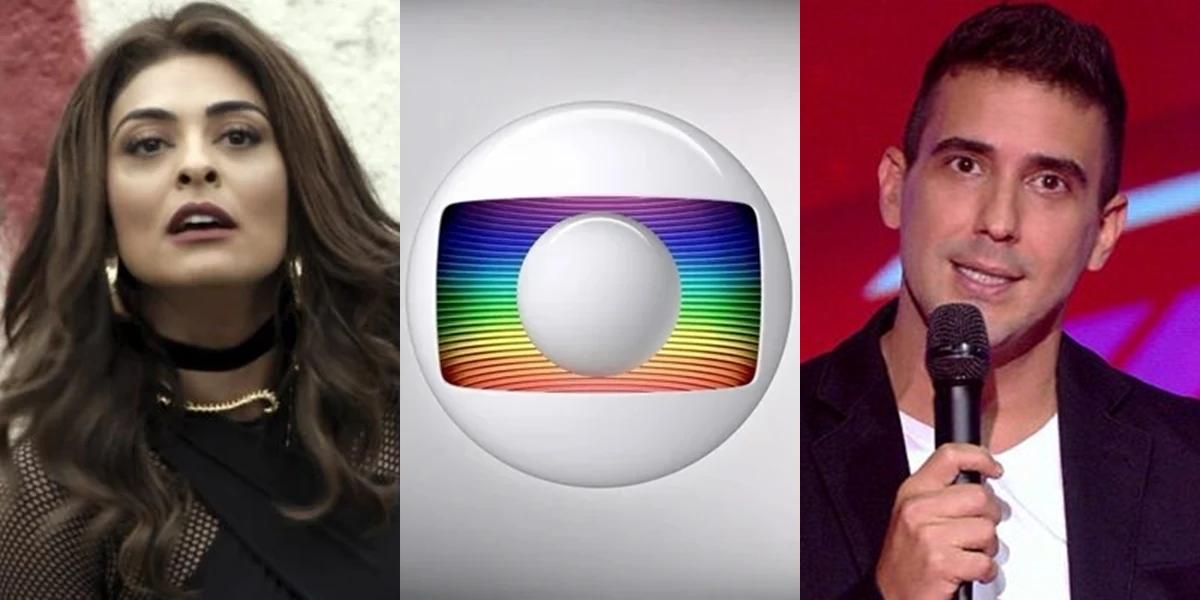Juliana Paes (Bibi) em A Força do Querer e André Marques no The Voice Kids; atrações voltam ao ar neste mês (Foto: Reprodução/Globo)