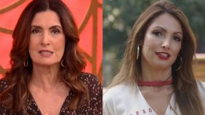 Fátima Bernardes no Encontro e Patrícia Poeta no É De Casa; apresentadoras (Foto: Reprodução/Globo)