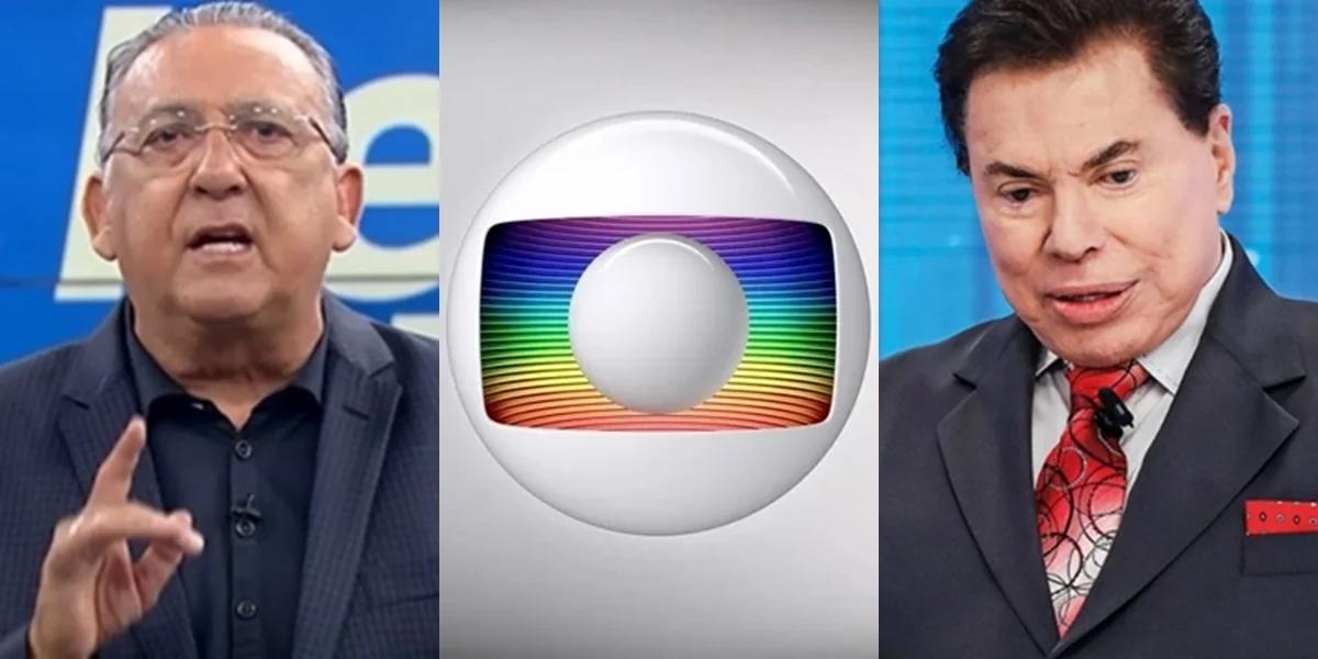 Galvão Bueno, principal nome do esporte da Globo, e Silvio Santos, que comprou os direitos de transmissão da Libertadores para o SBT (Foto: Reprodução/Globo/Divulgação/SBT)