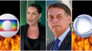 Bolsonaro repostou reportagem da Record detonando os donos da Globo (Reprodução)