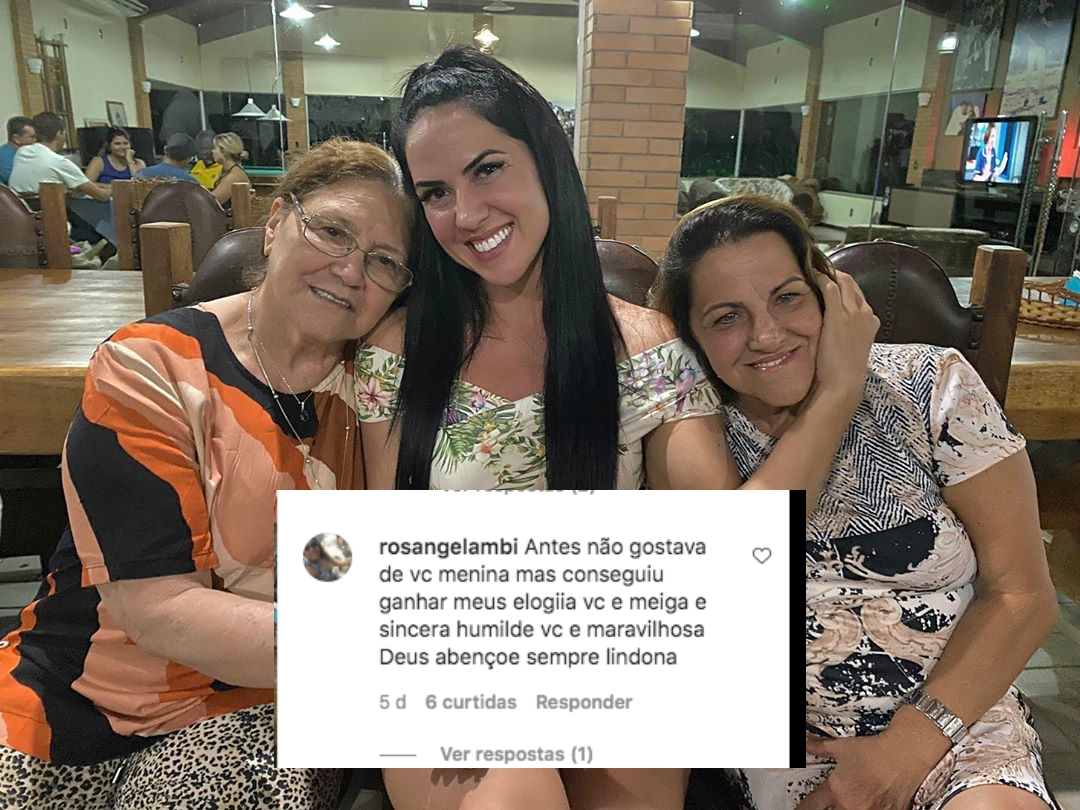 Graciele Lacerda recebeu um comentário de um seguidor (Foto: reprodução)