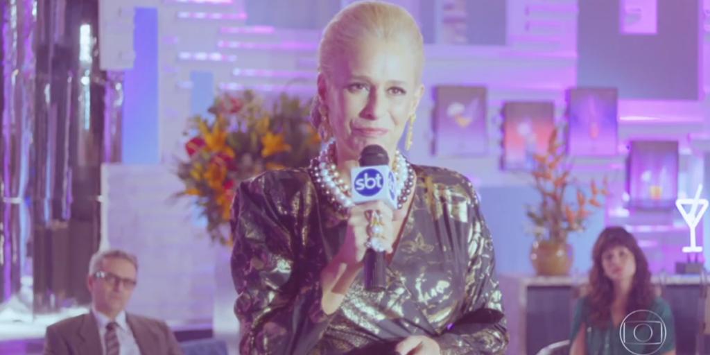 Andrea Beltrão (Hebe) em cena da série homônima da Globo; produção teve sua pior audiência contra eliminação de A Fazenda 12 (Foto: Reprodução/Globo)