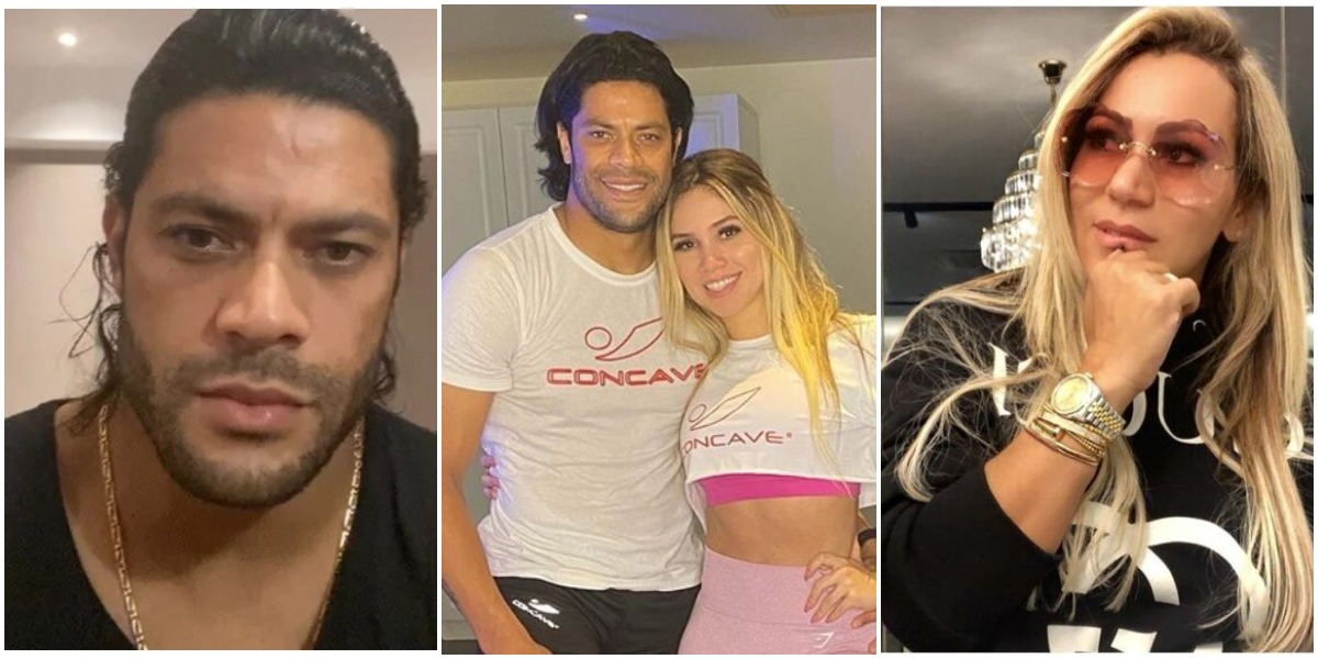 Hulk Paraíba, sua sobrinha, e Iran Ângelo (à direita) (Reprodução)